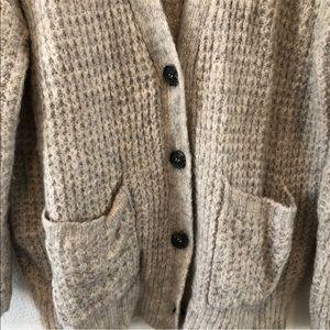 Button front grandpa cardigan